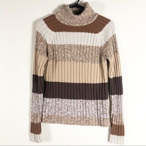 Chesley Brown Knit Turtleneck Sweater
